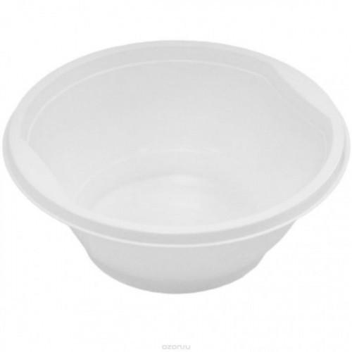 Тарелка одноразовая глубокая 0.6 л белая ПП 50 шт