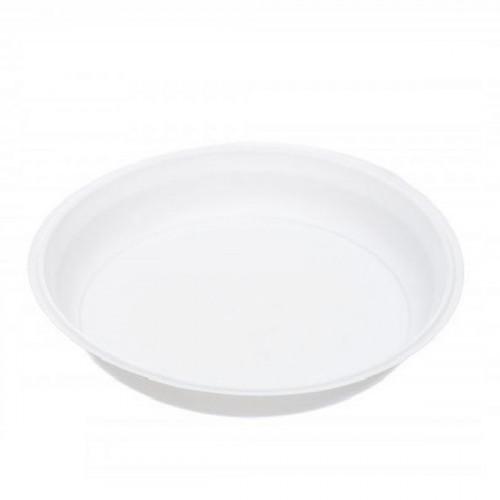 Тарелка одноразовая d 220мм, белая, ПП, 50 штук в упаковке