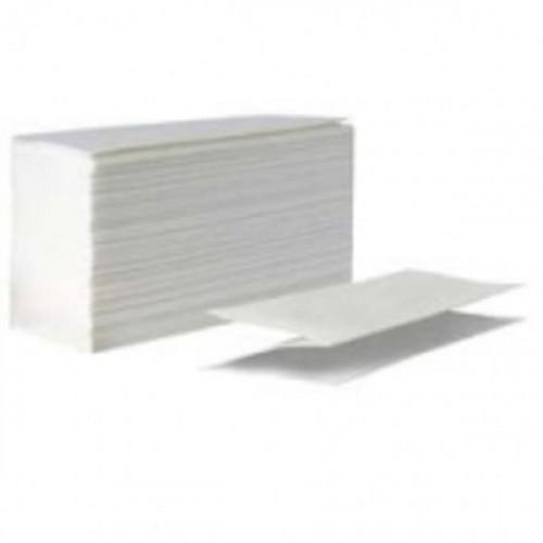Полотенца бумажные 2-слойные листовые Z-сложения Терес Комфорт Эко (15 пачек по 150 листов)