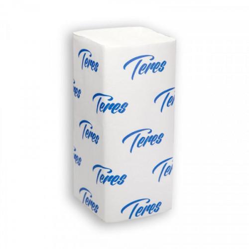 Полотенца бумажные 1-слойные листовые V-сложения Терес Стандарт Т-0201 (20 пачек по 200 листов)