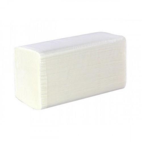 Полотенца бумажные 1-слойные, лист, 200лист, 22*21см, V-слож, целлюлоза, белый, 25 г/м2