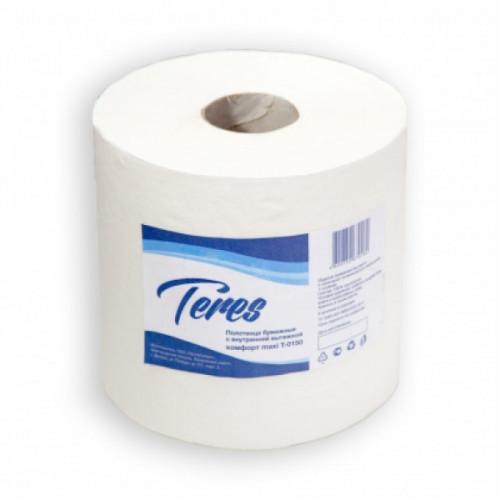 Полотенца бумажные 2-слойные, рулон, 150м/рул, 19,5см, целлюлоза, белый, Терес Комфорт midi, 6 рул/упак, 34 гр/м