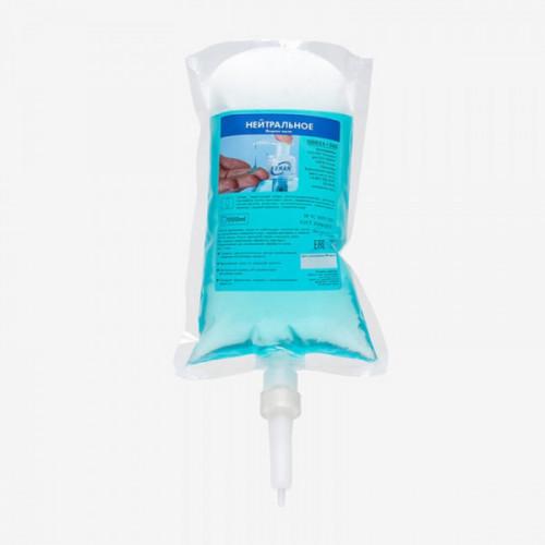Жидкое мыло Нейтральное в картридже, 1000 мл для диспенсеров, S1 бирюзовый