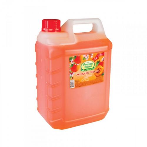 Крем-мыло туалетное жидкое Русские травы 5 литров в ассортименте алоэ-вера персик роза