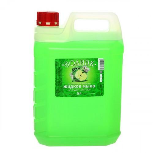 Жидкое мыло прозрачное Зодиак 5 литров в ассортименте зеленое яблоко персик земляника