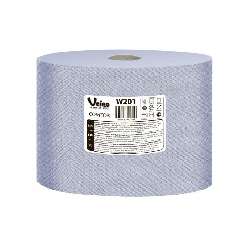 Протирочный материал размер листа 240х350 мм х 1000 листов 350 м Veiro Professional Comfort 2 рулона в упаковке