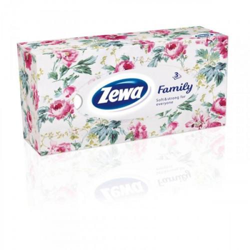 Салфетки косметические Zewa Deluxe 3-слойные белые 90 шт/уп