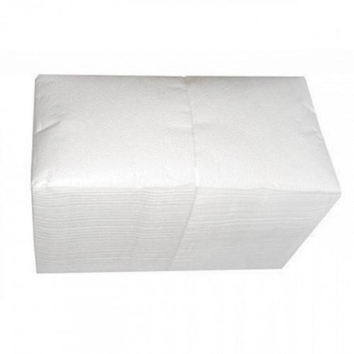 Салфетки белые бумажные 1-слойные 400 шт/уп