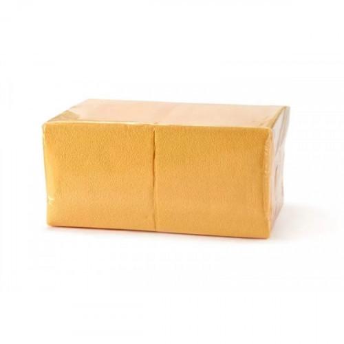 Салфетки желтые бумажные 1-слойные 400 шт/уп