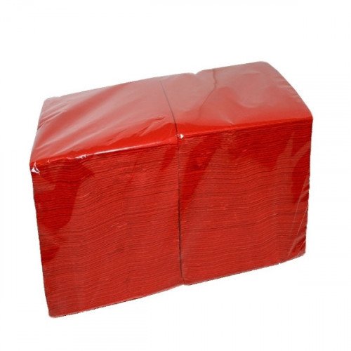 Салфетки красные бумажные 1-слойные 400 шт/уп