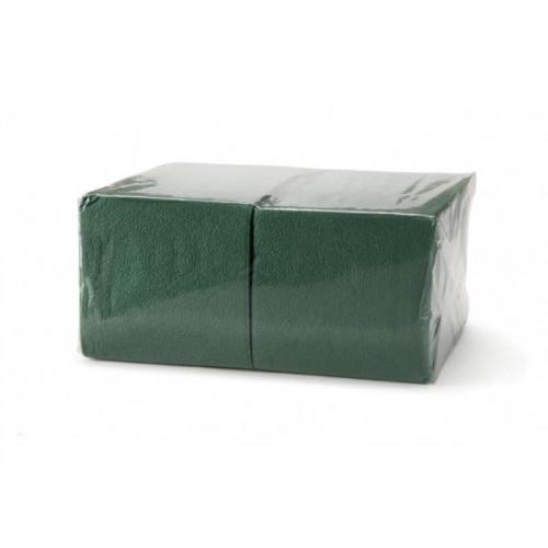 Салфетки зеленые бумажные 1-слойные 400 шт/уп