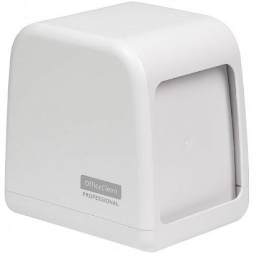 Диспенсер для салфеток настольный OfficeClean Professional, ABS-пластик, белый
