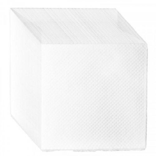Салфетки бумажные 1-слойные белые 100 штук