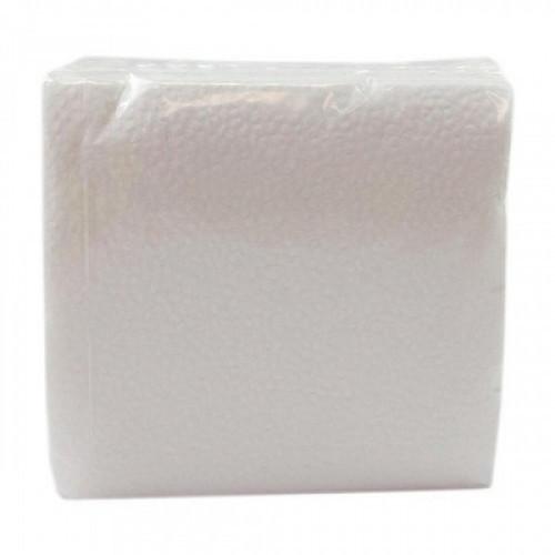 Салфетки бумажные 1-слойные белые, 55-60 листов