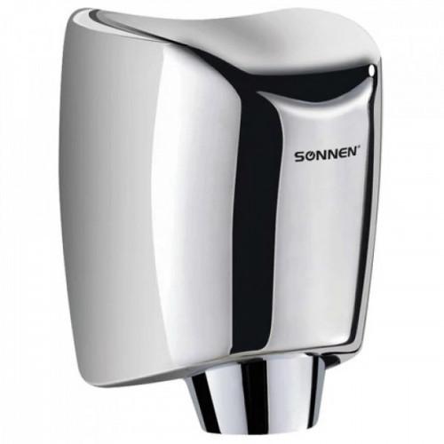 Сушилка для рук электрическая SONNEN HD-555, 1200 Вт, время сушки 15 секунд, нержавеющая сталь