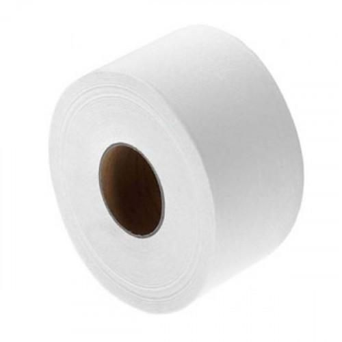 Туалетная бумага 1-слойная, 16см, 200м/рул, белая, d втулки 60 мм, целлюлоза, Терес Эконом maxi, 12 рул/упак, мини-рулоны