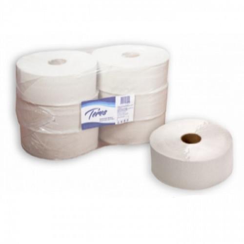 Туалетная бумага 1-слойная, 9,5см, 480м/рул, белая, d втулки 60 мм, макулатура, Терес Эконом Maxi, 6 рул/упак, рулоны