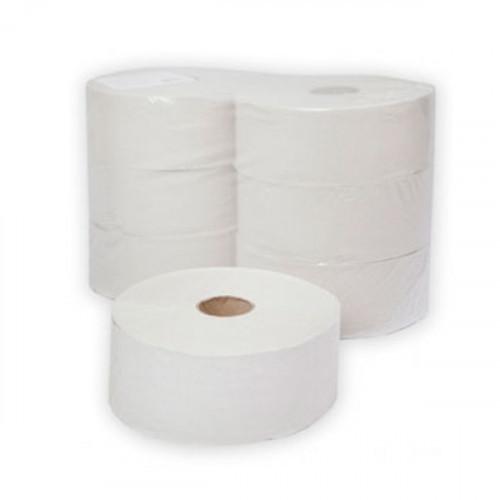 Туалетная бумага 1-слойная, 9см, 450м/рул, белая, d втулки 60 мм, макулатура, Терес Эконом maxi, 6 рул/упак, большие рулоны