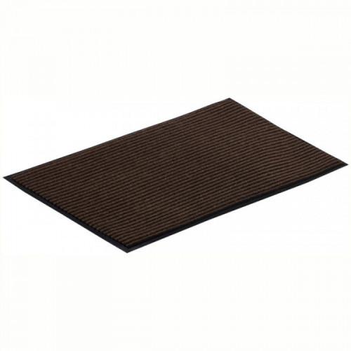 Коврик входной влаговпитывающий ворсовый ребристый Vortex (50х80см, коричневый)