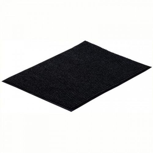 Коврик входной влаговпитывающий ворсовый ребристый Vortex (60х90см, черный)