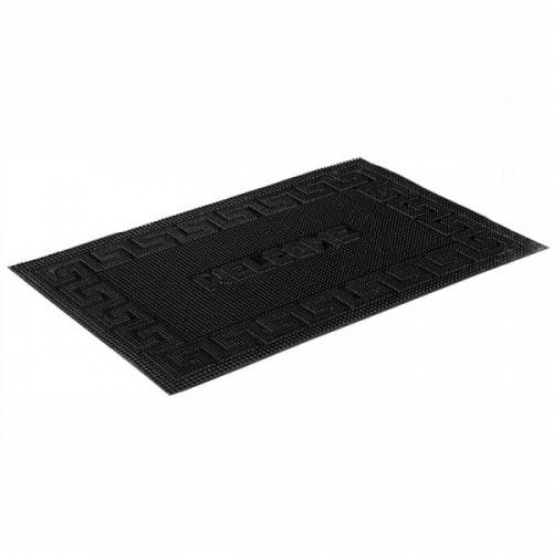 Коврик входной грязезащитный резиновый Vortex Welcome (40х60см, черный)