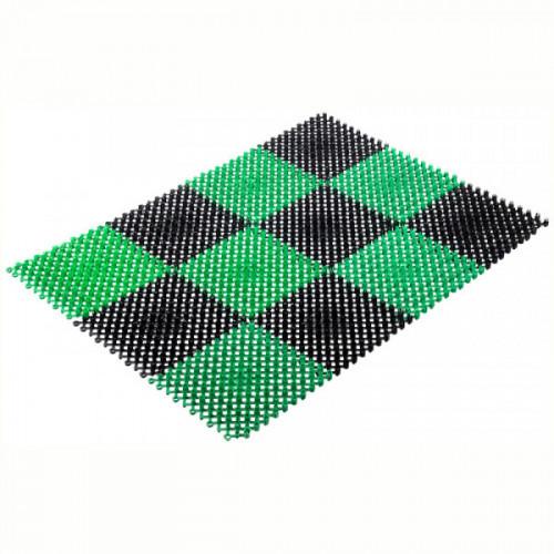 Коврик входной грязезащитный щетинистый Vortex Травка (42х56см, черно-зеленый)