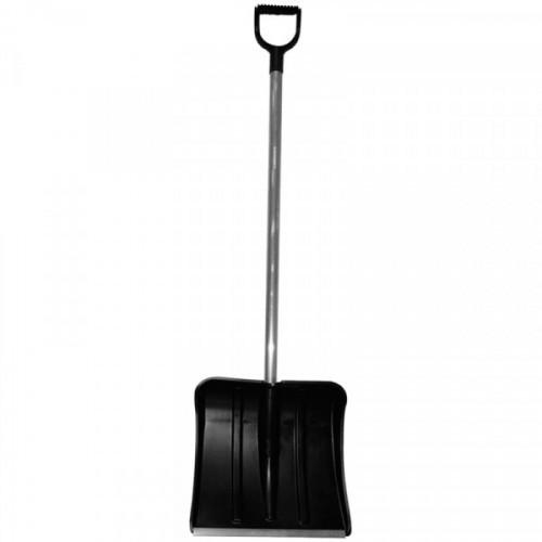 """Лопата снеговая """"Богатырь"""", пластиковая, 50*37,5см, морозостойкая, с алюминиевой  ручкой 100см"""
