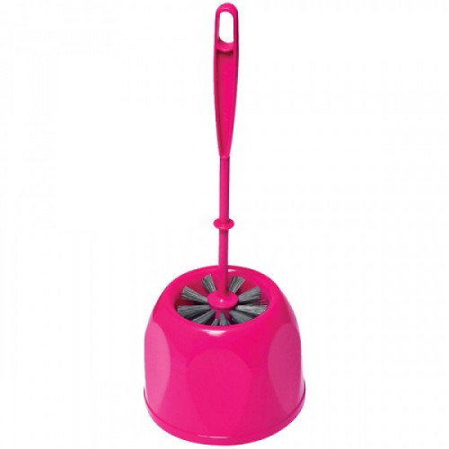 Комплект для туалета York (ерш+подставка), 16*39см, пластмасса, ассорти