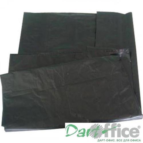 Пакеты для мусора, ПВД, 120 литров, 50 шт/упак, 55мкм, черные, (50+20)x110см