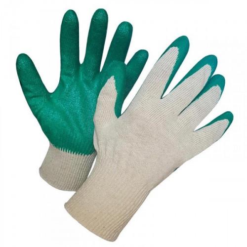 Перчатки хлопчатобумажные хозяйственные с латексной заливкой