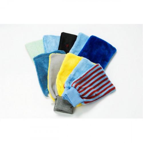 Салфетка хозяйственная рукавица универсальная из микроволокна с абразивом 14х22 см