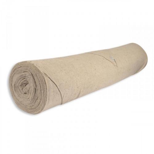Полотно холстопрошивное, хлопок, рулон 50мх154+/-5см, 200г/м2, серое
