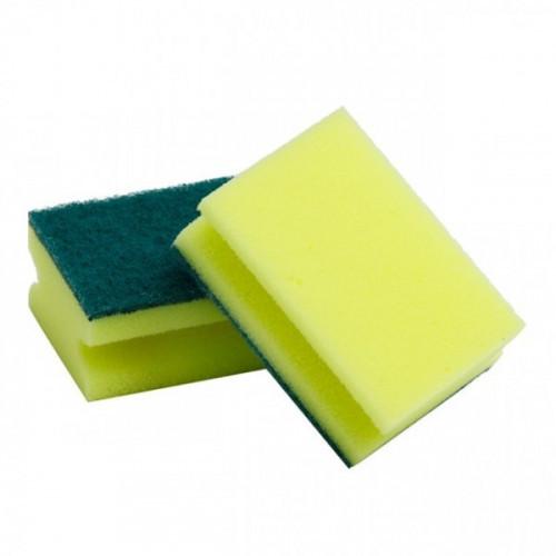 Губка для мытья посуды с выемкой для пальцев 5 штук в упаковке