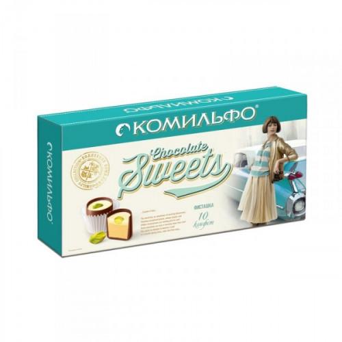 Конфеты шоколадные Комильфо с фисташкой 116 грамм