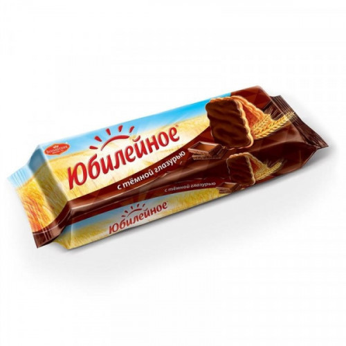 Печенье Юбилейное с шоколадной глазурью 116 грамм