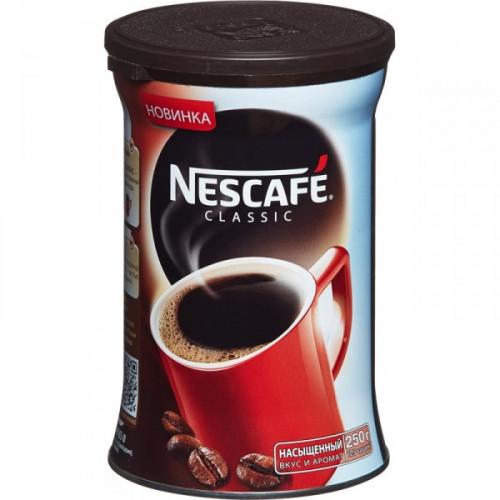 Кофе растворимый Nescafe Classic 250 грамм жестяная банка