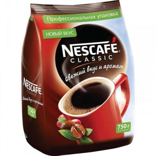 Кофе растворимый Nescafe Classic 750 грамм пакет
