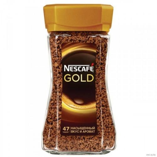 Кофе растворимый Nescafe Gold 95 грамм стекло