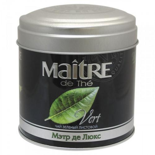 Чай Maitre Vert Де Люкс зеленый листовой 65 грамм