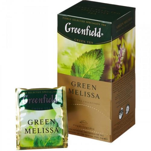 Чай Greenfield Green Melissa зеленый 25 пакетиков