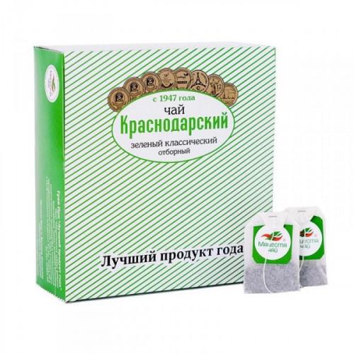 Чай Краснодарский с 1947 г зелёный классический отборный 100 пакетиков по 1.5 грамма