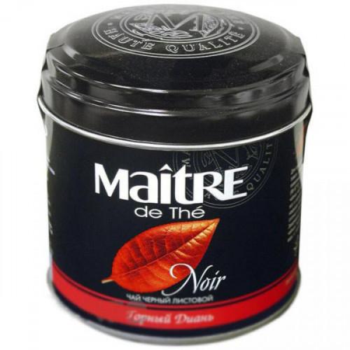 Чай Maitre the tea Noir Горный диань черный листовой 100 грамм