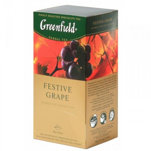 Чай Greenfield Festive Grape черный фруктово-ягодный 25 пакетиков