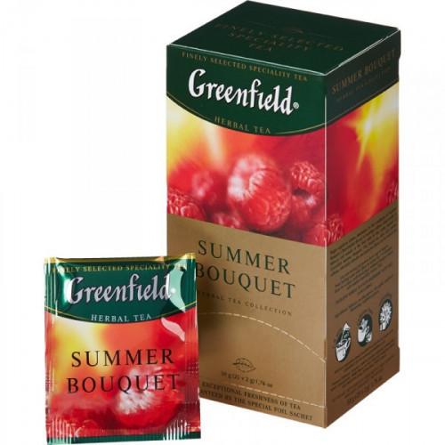 Чай Greenfield Summer Bouquet черный фруктово-ягодный 25 пакетиков