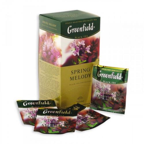 Чай Greenfield Spring Melody черный с чабрецом 25 пакетиков