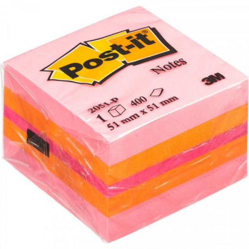 Стикеры Post-it Original 51х51 мм пастельные 3 цвета (1 блок, 400 листов)