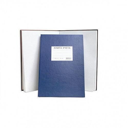 Книга учета А4, 144 листа, бумвинил, Lamark, клетка, сшивка