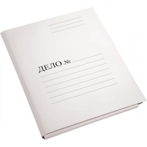 Папка-скоросшиватель Дело, А4, 450г/м2, картон мелованный, белая