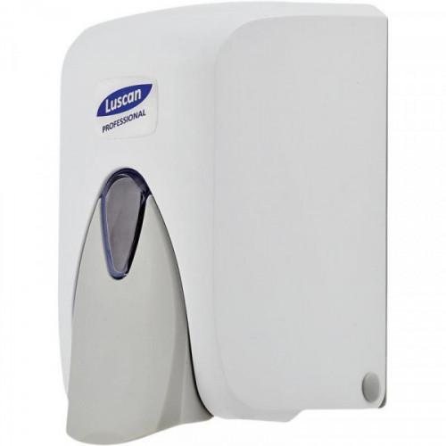 Дозатор для жидкого мыла Luscan Professional 500 мл, бело-серый пластик