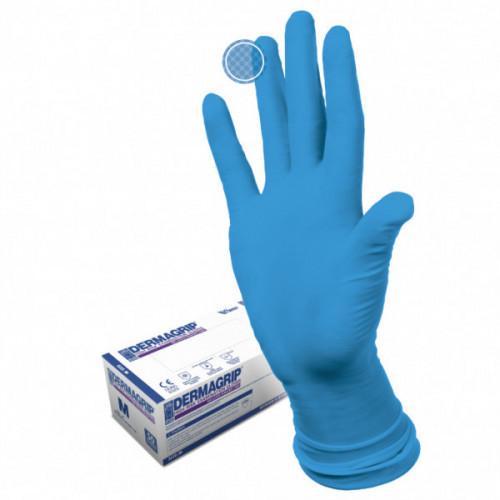 Перчатки DERMAGRIP HIGH RISK POWDER FREE Нестерильные, особо прочные, L, латексные, в пачке 25 пар